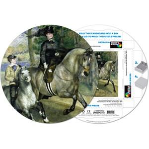 """Pigment Hue (RRENR-41205) - Pierre-Auguste Renoir: """"Woman riding horse"""" - 140 piezas"""