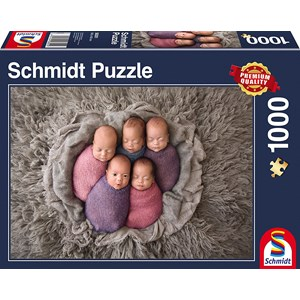 """Schmidt Spiele (58301) - """"Five Babies"""" - 1000 piezas"""