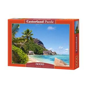 "Castorland (C-300228) - ""Tropical Beach, Seychelles"" - 3000 piezas"
