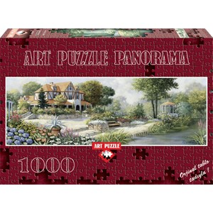 """Art Puzzle (4333) - Peter Motz: """"English Cottage"""" - 1000 piezas"""