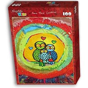 "Grafika Kids (01741) - Anne Poire, Patrick Guallino: ""Le Nid Porte-bonheur"" - 100 piezas"