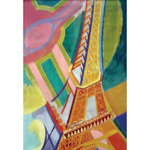 "Puzzle Michele Wilson (Z276) - Robert Delaunay: ""Eiffel Tower"" - 30 piezas"