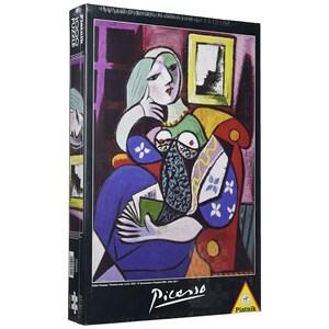"Piatnik (534140) - Pablo Picasso: ""Lady with book"" - 1000 piezas"