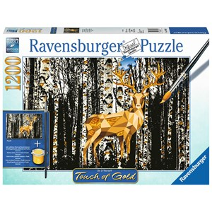 "Ravensburger (19936) - ""Deer in the Forest"" - 1200 piezas"