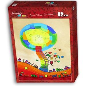 """Grafika Kids (01758) - Anne Poire, Patrick Guallino: """"Les Ombrelles du Bonheur"""" - 12 piezas"""