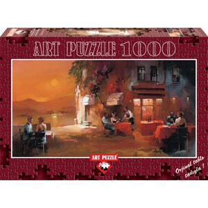 "Art Puzzle (4316) - Willem Haenraets: ""Dinner for Two"" - 1000 piezas"