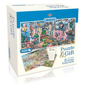 "Gibsons (G2601) - Mike Jupp: ""Puzzle and Postcards"" - 200 piezas"