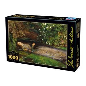 "D-Toys (73815-1) - John Everett Millais: ""Ophelia"" - 1000 piezas"