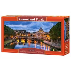 "Castorland (B-060054) - ""View of St Peter's Basilica, Vatican"" - 600 piezas"