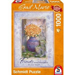 "Schmidt Spiele (59391) - Gail Marie: ""Friends"" - 1000 piezas"