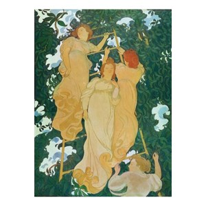 "Puzzle Michele Wilson (A235-250) - Maurice Denis: ""Ladder in the leaves"" - 250 piezas"