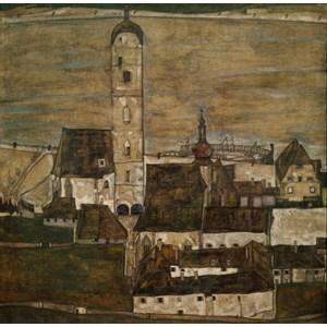 "Grafika (00213) - Egon Schiele: ""Stein an der Donau II, 1913"" - 1500 piezas"