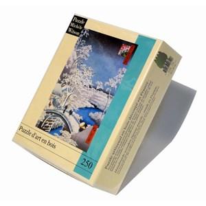 "Puzzle Michele Wilson (A566-250) - Utagawa (Ando) Hiroshige: ""Merugo Bridge"" - 250 piezas"