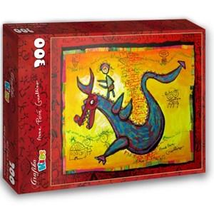 "Grafika Kids (01745) - Anne Poire, Patrick Guallino: ""Dragon Talisman"" - 300 piezas"