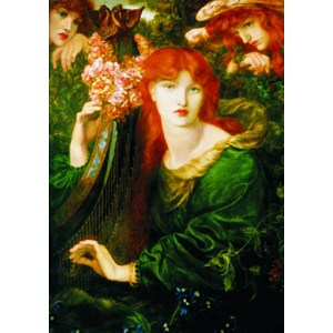 "Gold Puzzle (60584) - Dante Gabriel Rossetti: ""La Ghirlandata"" - 1000 piezas"
