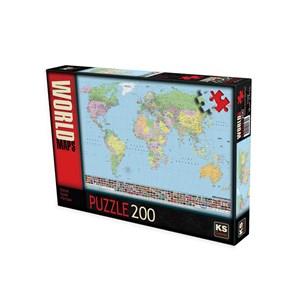 """KS Games (11332) - """"World map (in Turkish)"""" - 200 piezas"""