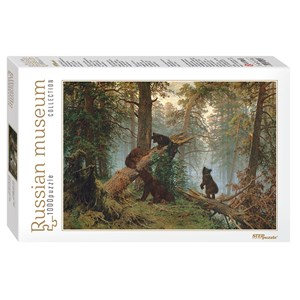"Step Puzzle (79218) - Iván Shishkin: ""Morning in a Pine Forest"" - 1000 piezas"