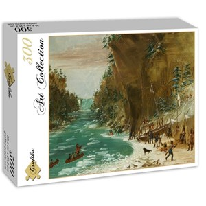 "Grafika (02226) - George Catlin: ""The Expedition Encamped below the Falls of Niagara. January 20, 1679, 1847-1848"" - 300 piezas"