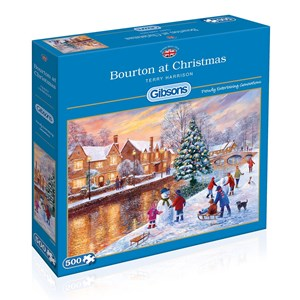 "Gibsons (G3088) - Terry Harrison: ""Bourton at Christmas"" - 500 piezas"