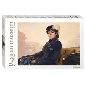 "Step Puzzle (79215) - Iván Kramskói: ""Unknown"" - 1000 piezas"