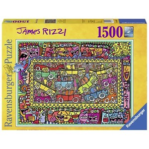 """Ravensburger (16356) - James Rizzi: """"We are on our way to your party"""" - 1500 piezas"""
