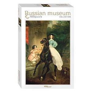 "Step Puzzle (79212) - Karl Briulov: ""Horsewoman"" - 1000 piezas"