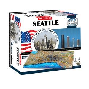 """4D Cityscape (40084) - """"Seattle"""" - 1100 piezas"""
