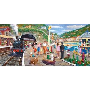 "Gibsons (G4031) - Derek Roberts: ""Seaside Train"" - 636 piezas"