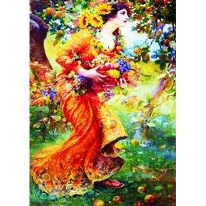 "Gold Puzzle (60591) - Franz Dvorak: ""In the Orchard"" - 1000 piezas"