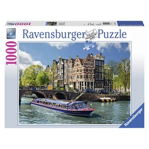 "Ravensburger (19138) - ""Netherlands, the Amsterdam canals"" - 1000 piezas"