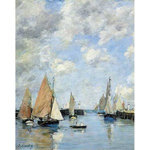 "Puzzle Michele Wilson (A506-250) - Eugène Boudin: ""The Jetty at High Tide"" - 250 piezas"