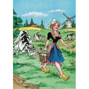 "PuzzelMan (028) - Rooie Oortjes: ""The Milkmaid"" - 1000 piezas"