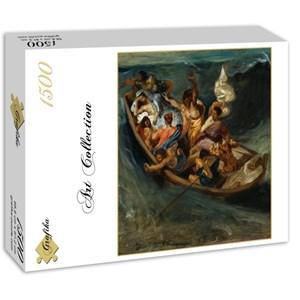 "Grafika (00777) - Eugene Delacroix: ""Christ on the Sea of Galilee, 1841"" - 1500 piezas"