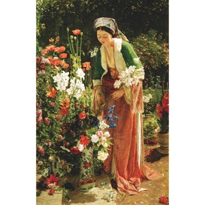 "Puzzle Michele Wilson (A204-350) - John Frederick Lewis: ""In the Bey's Garden"" - 350 piezas"