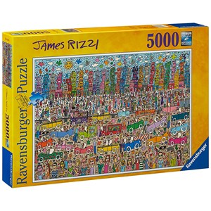 """Ravensburger (17427) - James Rizzi: """"Nothing is as Pretty as a Rizzi City"""" - 5000 piezas"""