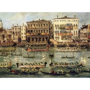 "Puzzle Michele Wilson (A352-250) - Francesco Guardi: ""Regattas on the Canal"" - 250 piezas"