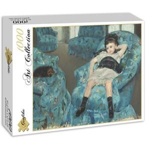 "Grafika (00232) - Mary Cassatt: ""Little Girl in a Blue Armchair, 1878"" - 1000 piezas"