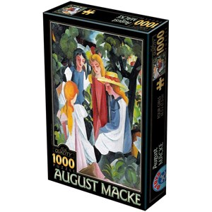 "D-Toys (72863-1) - August Macke: ""Four Girls"" - 1000 piezas"