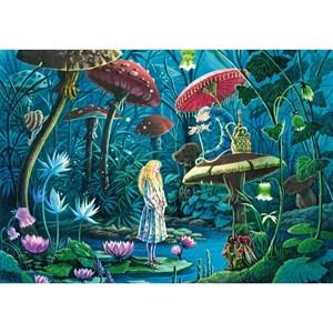 """Puzzle Michele Wilson (W443-100) - Florence Magnin: """"Alice in Wonderland"""" - 100 piezas"""