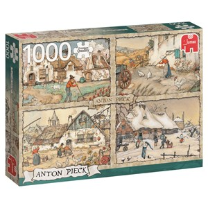 "Jumbo (17093) - Anton Pieck: ""4 Seasons"" - 1000 piezas"
