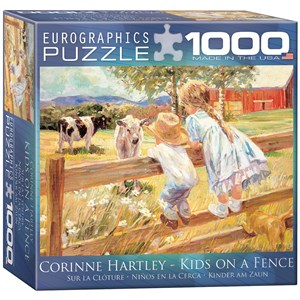 "Eurographics (8000-0450) - Corinne Hartley: ""Kids on a Fence"" - 1000 piezas"