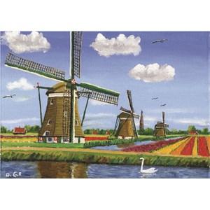 """PuzzelMan (158) - Dirk Graas: """"3 Mills"""" - 99 piezas"""