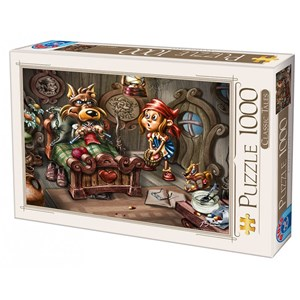 "D-Toys (72894-CT02) - Biro Donat: ""Little Red Riding Hood"" - 1000 piezas"