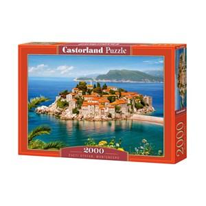 "Castorland (C-200580) - ""Sveti Stefan, Montenegro"" - 2000 piezas"