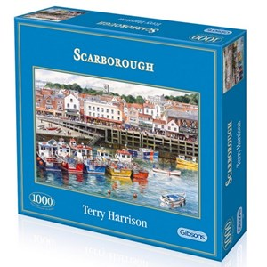 """Gibsons (G6090) - Terry Harrison: """"Scarborough Fishing Harbour"""" - 1000 piezas"""