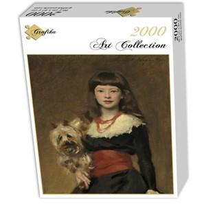 "Grafika (02065) - John Singer Sargent: ""Miss Beatrice Townsend, 1882"" - 2000 piezas"