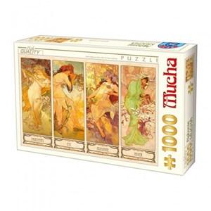 "D-Toys (66930-MU09) - Alphonse Mucha: ""Seasons"" - 1000 piezas"