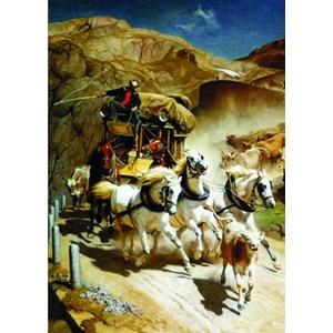 "Gold Puzzle (60379) - Rudolf Koller: ""The Gotthardpost"" - 2000 piezas"