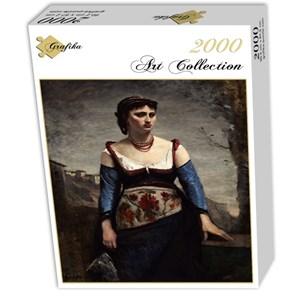 "Grafika (01979) - Jean-Baptiste-Camille Corot: ""Agostina, 1866"" - 2000 piezas"