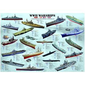 "Eurographics (8000-0133) - ""WWII Warships"" - 1000 piezas"